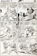 Original Comic Art:Panel Pages, Jack Kirby and Chic Stone Avengers #6 Captain America vs.Baron Zemo Page 19 Original Art (Marvel, 1964)....