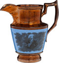 Political:3D & Other Display (pre-1896), Andrew Jackson: Fine Copper Lustre Pitcher....