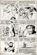 Original Comic Art:Panel Pages, Jack Kirby and Paul Reinman Avengers #2 Page 22 Original Art(Marvel, 1963)....