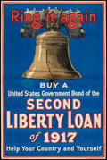"""Movie Posters:War, World War I Propaganda (U.S. Government Printing Office,1917).Trimmed Poster (19.75"""" X 29.75"""") """"Ring it Again."""" War.. ..."""