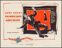 "North by Northwest (MGM, 1959). Half Sheet (22"" X 28""). Hitchcock"