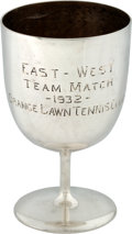 Miscellaneous Collectibles:General, 1935 Ellsworth Vines East-West Team Match Trophy.. ...