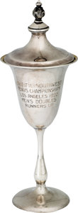Miscellaneous Collectibles:General, 1932 Ellsworth Vines Pacific Southwest Men's Doubles Runners-UpTrophy....