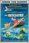 "Movie Posters:Animation, The Rescuers & Other Lot (Buena Vista, 1977). One Sheets (2) (27"" X 41"") SS Advance & DS Regular. Animation.. ... (Total: 2 Items)"