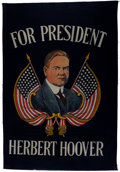 Political:Textile Display (1896-present), Herbert Hoover: Large Silkscreen Banner....