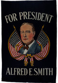 Political:Textile Display (1896-present), Al Smith: Large Colorful Silkscreen Banner....