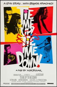 "Tie Me Up! Tie Me Down! (Miramax, 1990). One Sheet (27"" X 41""), & Video Poster (27"" X 39.75""..."