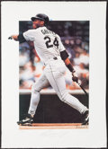 Baseball Collectibles:Others, Ken Griffey Jr. Signed Lithograph....