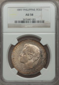 Philippines, Philippines: Alfonso XIII Peso 1897 SG-V AU58 NGC,...
