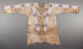 American Indian Art:Beadwork and Quillwork, A SIOUX BEADED HIDE WAR SHIRT. c. 1910...