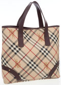 Luxury Accessories:Bags, Burberry Haymarket Nova Check Canvas Small Tote Bag. ...