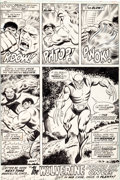 Original Comic Art:Panel Pages, Herb Trimpe and Jack Abel The Incredible Hulk #180 FinalPage 32: The First-Ever Appearance of Wolverine Original ...