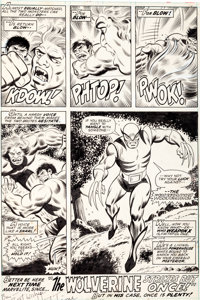 Herb Trimpe and Jack Abel The Incredible Hulk #180 Final Page 32: The First-Ever Appearance of Wolverine Original