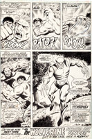 Featured item image of Herb Trimpe and Jack Abel The Incredible Hulk #180 Final Page 32: The First-Ever Appearance of Wolverine Original ...