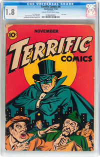 Terrific Comics #6 (Continental Magazines, 1944) CGC GD- 1.8 Cream to off-white pages
