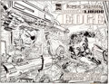 Original Comic Art:Covers, Kerry Gammill and Tom Palmer Double Edge: Alpha Punisher Cover Original Art (Marvel, 1995)....