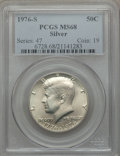 Kennedy Half Dollars, 1976-S 50C Silver MS68 PCGS. PCGS Population (351/1). NGC Census:(22/0). Mintage: 11,000,000. Numismedia Wsl. Price for pr...