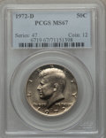 Kennedy Half Dollars: , 1972-D 50C MS67 PCGS. PCGS Population (82/0). NGC Census: (17/0).Mintage: 141,890,000. Numismedia Wsl. Price for problem f...