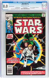 Star Wars #1 35 Cent Variant (Marvel, 1977) CGC VF 8.0 Off-white to white pages