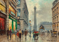 Fine Art - Painting, European:Modern  (1900 1949)  , ANTOINE BLANCHARD (French, 1910-1988). Place Vendôme. Oil oncanvas. 13 x 18 inches (33.0 x 45.7 cm). Signed lower right...