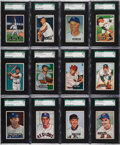 Baseball Cards:Sets, 1951 Bowman Baseball SGC Graded Collection (100). ...