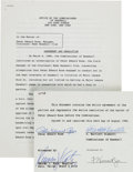 Autographs:Others, 1989 Pete Rose Signed Banishment from Baseball Official Document....
