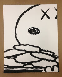 KAWS Untitled (MBFC5), 2014 Acrylic on paper 20 x 16 inches (50.8 x 40.6 cm)