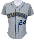 Baseball Collectibles:Uniforms, 1991 Ken Griffey, Jr. Game Worn Seattle Mariners Jersey. ...