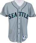Baseball Collectibles:Uniforms, 1994 Ken Griffey Jr. Game Worn Seattle Mariners Jersey, MEARS A10 & Griffey Signed Letter. ...
