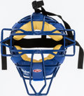 Baseball Collectibles:Others, 2006 Paul LoDuca Game Worn New York Mets Catcher's Mask - SteinerLOA....