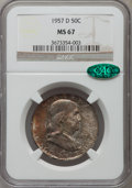 Franklin Half Dollars, 1957-D 50C MS67 NGC. CAC....