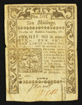 Colonial Notes:Rhode Island, Rhode Island May 1786 10s Very Fine.. ...