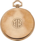 Political:Presidential Relics, Harry S. Truman: Personally-Owned Tiffany Gold Pocket Watch....