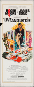 "Movie Posters:James Bond, Live and Let Die (United Artists, 1973). Insert (14"" X 36""). JamesBond.. ..."