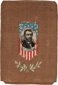 Political:3D & Other Display (pre-1896), Ulysses S. Grant: Woven Fabric Cigar Holder or Pouch....