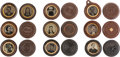 Photography:Tintypes, Early Photography: Nine Oreo Cased Images.... (Total: 9 Items)