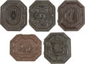 Photography:Tintypes, Early Photography: Five Octagonal Cases with Images.... (Total: 5Items)