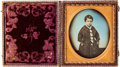 Photography:Daguerreotypes, Early Photography: Tinted Sixth Plate Daguerreotype....
