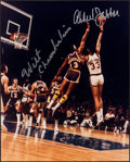 Basketball Collectibles:Photos, Wilt Chamberlain and Kareem Abdul Jabbar Multi Signed OversizedPhotograph....