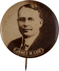 Political:Pinback Buttons (1896-present), James M. Cox: Sepia Picture Pin....