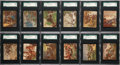 Non-Sport Cards:Sets, 1930 Sperry Candy In History Spotlights SGC Graded Complete Set(24). ...