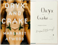 Books:Literature 1900-up, Margaret Atwood. SIGNED. Oryx and Crake. Nan A.Talese/Doubleday, 2003. First edition. Signed by the author o...