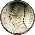 Egypt: , Egypt: King Fuad 20 Piastres 1933, KM352, choice brilliant UNC, anexceptionally nice example with minimal contact marks and very f...
