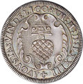 German States:Augsburg, German States: Augsburg. Maximilian II 1/2 Guldentaler of 30Kreuzer 1573, Forster-78, Lovely toned AU. A rare early half talersize coin t...