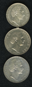 German States:Bavaria, German States: Bavaria. Three-piece lot as follows: ... (Total: 3coins)