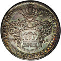 German States:Hamburg, German States: Hamburg. Free City Reformation Taler 1730, KM170, D-2282, XF with medium blue grey toning and golden flashes in the devices....