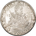 German States:Saxony, German States: Saxony. August Taler 1576, D-9798, lusterous AU. A choice piece and well struck for this early issue. A half length armored...