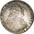 German States:Saxony, German States: Saxony. Friedrich August II Taler 1742FWoF, KM880, D-2665, Uncirculated with beautiful golden and green iridescence atop a l...