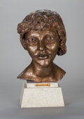 Sculpture, JACOB EPSTEIN (British, 1880-1959). 2nd Portrait of Kitty (Kitty with Short Hair), 1947. Bronze with brownish-gold patin...