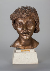 JACOB EPSTEIN (British, 1880-1959) 2nd Portrait of Kitty (Kitty with Short Hair), 1947 Bronze with b